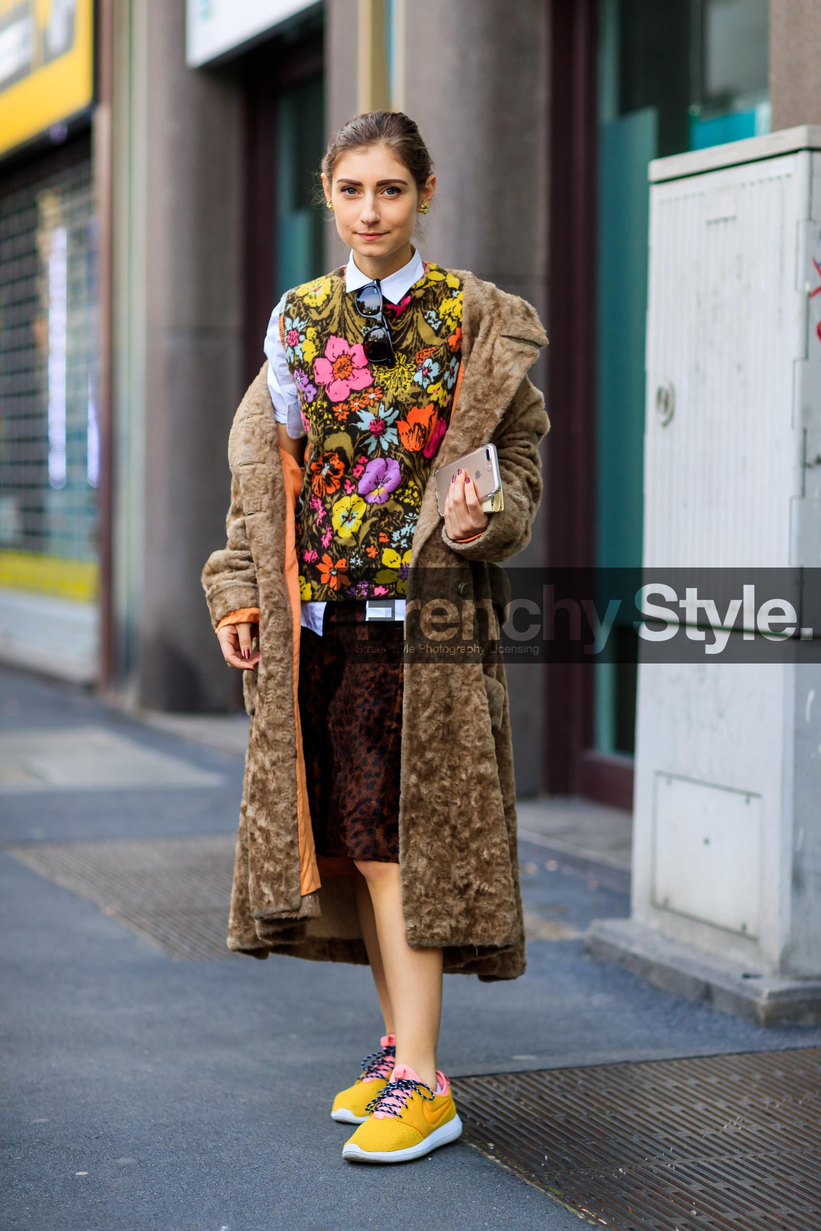 Milan Fashion Week  Brown Coat